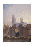 Rouen Cathedral, Sunrise, 1825 Giclee Print by Richard Parkes Bonington