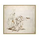 Isaac Blessing Jacob Giclee Print by  Rembrandt van Rijn