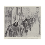 Called to the Bar, the Procession into Hall Giclee Print by Ralph Cleaver