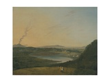Lago D'Agnano with Vesuvius in the Distance, C.1770-75 Giclee Print by Richard Wilson