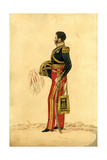 Officer of the 13th Light Dragoons in Levée Dress, C.1830 Giclee Print by Richard Dighton