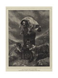 The Wounded Ram, Loch Freig Giclee Print by Richard Ansdell