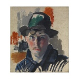 Self Portrait with Green Hat Giclee Print by Rik Wouters