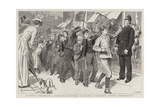 School Children's Strikes, Juvenile Strikers Parading their Grievances Giclee Print by Robert Barnes