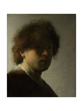 Self Portrait as a Young Man, C.1628 Giclee Print by  Rembrandt van Rijn