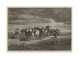 Loading Sand-Pas De Calais, Threatening Weather, from Last Year's Royal Academy Exhibition Giclee Print by Richard Beavis