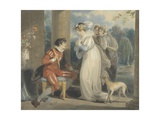 Rosebud, or the Judgement of Paris, 1791 (W/C and Bodycolour over Graphite on Paper) Giclee Print by Richard Westall