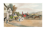 A London Mail and Stage Coach Giclee Print by Robert The Elder Havell