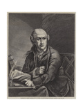 Portrait of David Garrick Giclee Print by Robert Edge pine
