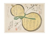 Water Gourd and Cherry Blossoms Giclee Print by  Rosh?