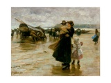 Hauling the Boats, 1890 Giclee Print by Robert Jobling