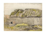 A Barn with a Mossy Roof, Shoreham (W/C with Brown Wash, Ink, Gouache and Pencil on Paper) Giclee Print by Samuel Palmer