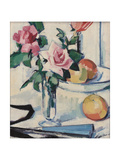Still Life with Pink Roses Giclee Print by Samuel John Peploe