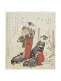 Red, C. 1820 Giclee Print by Ryuryukyo Shinsai