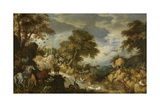 Orpheus and the Animals Giclee Print by Roelandt Jacobsz. Savery