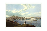 View of the City of Boston from Dorchester Heights, 1793 1878, USA, America Giclee Print by Robert The Younger Havell