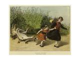 Scarlet Runners Giclee Print by Samuel Edmund Waller