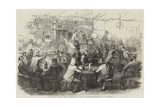 Evacuation of the Crimea, Interior of a Cafe at Kadikoi Giclee Print by Robert Thomas Landells