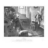 Friedrich II and Johann Sebastian Bach in the Garnissonkirche at Potsdam Giclee Print by Rudolf Eichstaedt