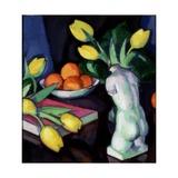 Yellow Tulips and Statuette Giclee Print by Samuel John Peploe