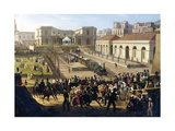 The Opening of Railway Line from Naples to Portici, 1840 Giclee Print by Salvatore Fergola