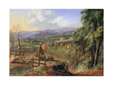 Fall Landscape in England with an Impending Storm, C.1735 Giclee Print by Robert Griffier