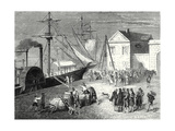 Fulton Boards His Steamboat the 'Clermont' in New York for its First Trip April 11 1807 Giclee Print by Robert Fulton