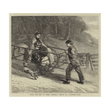 Punch and Judy on their Travels, a Sketch on a Turnpike Road Giclee Print by Samuel Edmund Waller