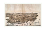 Bird'S-Eye View of San Francisco, California from Above the Bay Looking West, USA, America Giclee Print by Robert Swain Gifford