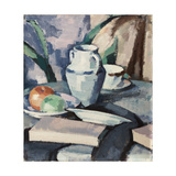 Still Life with Vase and Books Giclee Print by Samuel John Peploe