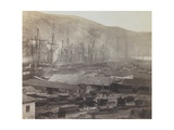 Railway Sheds and Workshops, Balaklava, 1855 Giclee Print by Roger Fenton