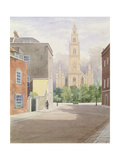 St. Paul's Church, Portland Square, from Surrey Street, 1825 Giclee Print by Samuel Jackson