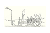 The Engine and Shaft of the Wheels of the 'Clermont' Steamboat Built by Fulton in 1807 Giclee Print by Robert Fulton
