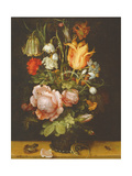 Still Life with Flowers, 1615 Giclee Print by Roelandt Jacobsz. Savery