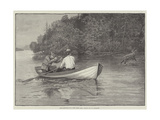Deer-Shooting on a New York Lake Giclee Print by Rufus Fairchild Zogbaum