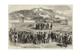 Evacuation of the Crimea by the Allies, the Ceremony at the Ordnance Wharf, Balaclava Giclee Print by Robert Thomas Landells