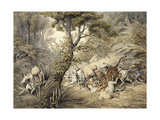 Tiger Attacking a Cattle Train Giclee Print by Samuel Howitt