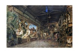 Hans Makart's Studio before Auction Giclee Print by Rudolph von Alt
