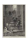 Sketches in Albania, a Street Scene in Scutari Giclee Print by Richard Caton Woodville II