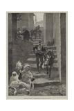 Sketches in Albania, a Street Scene in Scutari Giclee Print by Richard Caton Woodville II
