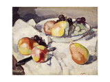 Still Life with Pears and Grapes, C.1930 Giclee Print by Samuel John Peploe