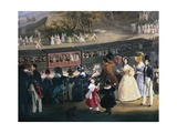 Ferdinand II on Train During Maiden Voyage of Naples-Portici Railway, October 4, 1839 Giclee Print by Salvatore Fergola