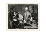 Fine Arts, Harvey Demonstrating to Charles I. His Theory of the Circulation of the Blood Giclee Print by Robert Hannah