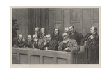 Sketches in the Royal Courts of Justice, a Special Jury Giclee Print by Robert Barnes
