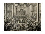Portuguese Synagogue in Amsterdam. Scene Cult Initiation, 1675. by Hooglhe Romeyn Giclee Print by Romeyn De Hooghe