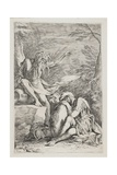 The Dream of Aenëas, C. 1663-1664 Giclée-tryk af Salvator Rosa