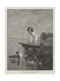 Young Ducks Giclee Print by Robert Julius Beyschlag