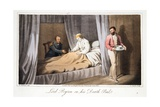 Lord Byron on His Death Bed, from the Last Days of Lord Byron by William Parry, Pub. 1825 Giclee Print by Robert Seymour
