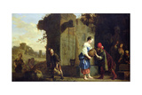Eliezer and Rebecca at the Well, 1660 Giclee Print by Salomon de Bray