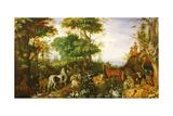 Orpheus Charming the Animals Giclée-trykk av Roelandt Jacobsz. Savery
